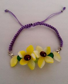 Check out this item in my Etsy shop https://www.etsy.com/listing/259134067/micro-macrame-bracelet-flower-bracelet