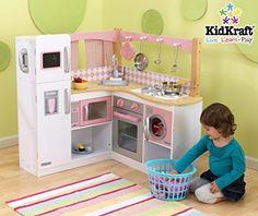 KidKraft Grand Gourmet Deluxe Corner Kitchen Kids Pretend...