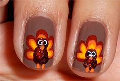 Cute & Easy Thanksgiving Nail Art Designs & Ideas 2013/ 2014 | Fabulous Nail Art Designs