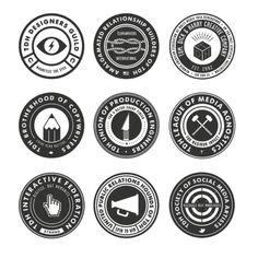 Round logos.