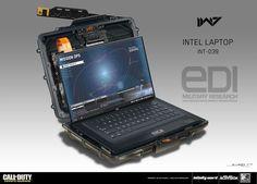 ArtStation - Call of Duty: Infinite Warfare - Intel Laptop, Simon Ko New Technology Gadgets, Spy Gadgets, High Tech Gadgets, Futuristic Technology, Cool Technology, Energy Technology, Cyberpunk, Pc Android, Sci Fi Weapons