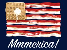 MMMerica! Bacon + waffles t-shirt. $11.99