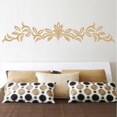 cuisine Autocollant mural /él/égant motif floral gris 10 cm par 5 m bordure de plafond pour salle de bain