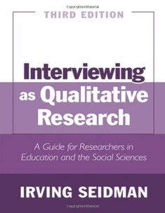 73 best analysis of qualitative data images on pinterest interviewing as qualitative research a guide for researchers in education and the social sciences edition a book by irving seidman fandeluxe Image collections