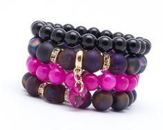 Wristbands & Bracelets – Set of 4 bracelets BL990 – a unique product by Blackif on DaWanda