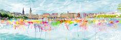 Splashing Alster von Bilderwerk Hamburg