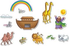 Noah's Ark Bulletin Board Accents from NorthStar Teacher Resources.