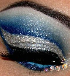 Cheer makeup. im going to try this!