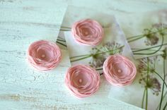 Tiny and Thick Handmade sheer voile sew on flower by JujaCrafts
