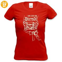 Damen-T-Shirt-Girlie-Shirt :-: Volksfest-Fasching-. Oktoberfest OutfitKarnevalPartnerParty  OutfitsDirndlRedLadiesBirthday