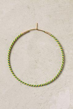 Thread-wrapped hoop earrings
