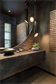usando madeira de demolição no banheiro!