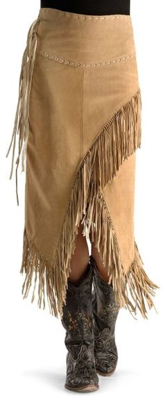 Scully Leather Women's Suede Fringe Skirt