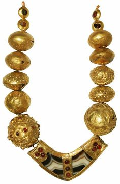 """The Golden Fleece - Ancient treasures of Georgia.""           Necklace from Kurgans Trialeti, early second millennium."