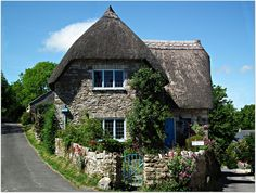 """Thatched cottage.....there is just something so SPECIAL about charming cottages that absolutely """"warms my HEART""""!"""