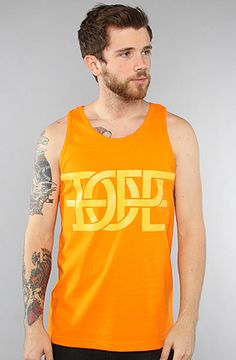 $12 Dope Couture The Interlock Tank in Orange - Use repcode SMARTCANUCKS for 10% off on #PLNDR - http://www.lovekarmaloop.com