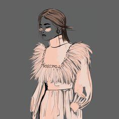 #dress #fashion #illustration #digitalart #illu #fashion #art #drawing #dress #color #gradient #artwork #sketch #illustration #fashion #design #graphic #beauty #grey #feathers #pink #digitalart