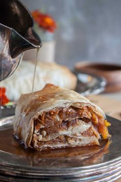 Pumpkin Strudel with Pumpkin Seeds and Pumpkin Ale Syrup Pumpkin Beer, Cooking With Beer, Toasted Pumpkin Seeds, Phyllo Dough, Beer Recipes, Strudel, Quick Easy Meals, Ale, Syrup