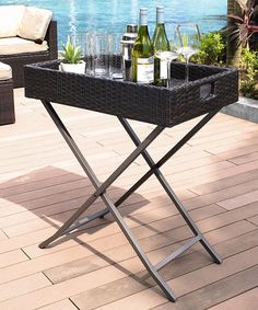 Look what I found on #zulily! Brown Palm Harbor Outdoor Wicker Butler Tray by Crosley #zulilyfinds