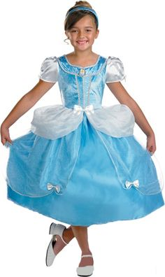 Cinderella Dlx 7 8 : Quality costume includes dress with traditional character detailing and matching headband. Disney Costumes For Kids, Kids Costumes Girls, Girl Costumes, Halloween Costumes For Kids, Adult Costumes, Costume Dress, Cinderella, Midi Skirt, Disney Princess