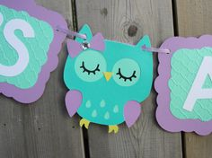 IT'S A GIRL Owl banner baby shower by lilcraftychickadee on Etsy