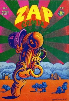 #2- By Victor Moscoso (b.1936), 1971, Zap Comix n°4, Back Cove.