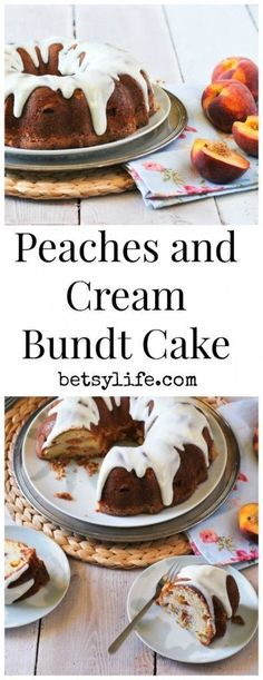 It's stone fruit season! Time for this Peaches and Cream Bundt Cake ...