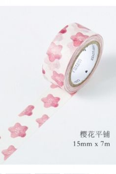 Japanese Style Pattern Paper Masking Tape -  Cherry Blossom Pink
