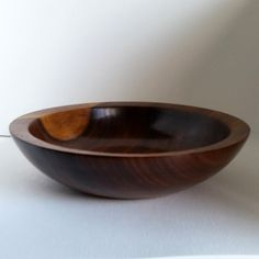 Wood Bowl American Black Walnut chunky rim hand turned InTurn UK Woodturner £79.00