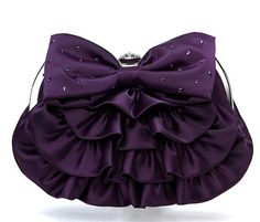 purple clutch purse