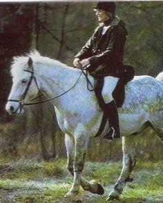January 27, 1983: Princess Diana riding at Sandringham. tbt