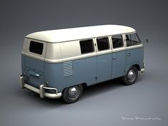 A Garagem Digital de Dan Palatnik   The Digital Garage Project: 1957 VW Kombi Bus