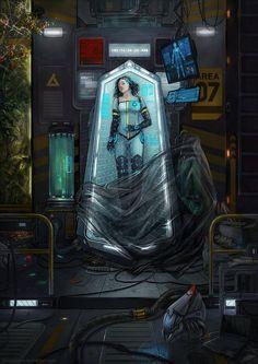 Concept Art by Dandelion-S - Writing inspiration #nanowrimo #scifi #cyberpunk