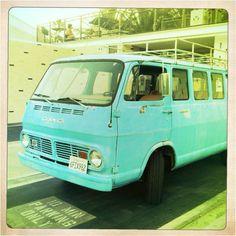 Vintage van, Ace Hotel, Palm Springs, #MWDenimRoadtrip