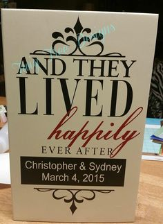 12 x 18 - Happily Ever After - personalized wedding sign