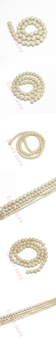 Natural Fossili Stone Round Loose Beads For Jewelry Making  1.5inch/Strand 4 6 8 10 MM Diy Jewelry (F00238)