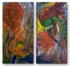 'Jammin' by Steven Weber 2 Piece Painting Print Plaque Set