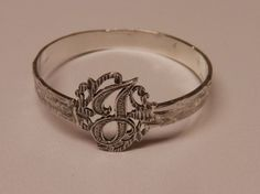 Napkin Ring with a ( Initial ( J ) Sterling Silver Silver Napkin Rings, Initials, Wedding Rings, Engagement Rings, Sterling Silver, Antiques, Bracelets, Vintage, Ebay