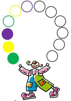 Dopjes leggen clown Fall Preschool Activities, Preschool Centers, Preschool Math, Book Activities, Numbers Kindergarten, Kindergarten Math Worksheets, Art Worksheets, Free Printable Worksheets, School Wall Decoration