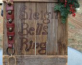 Mantle Sign Sleigh Bells Ring Rustic Christmas Large