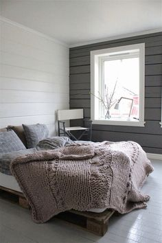 soothing accent wall - muted paint color