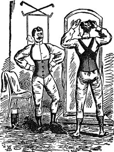 da9b6eda81 Smooth Silhouettes for Men Some men wore corsets in the and centuries.  Especially in the late and early high fashion for men called for  form-fitting ...