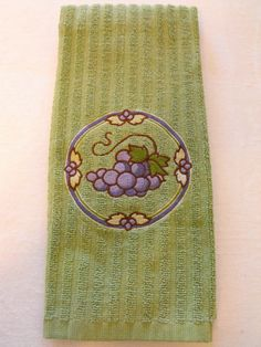 Bunch of Grapes Kitchen Towel by familytreasures4 on Etsy, $8.00
