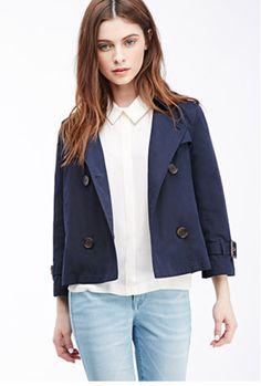 Navy Blue Jacket & Light Denim Jeans