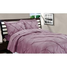 @Overstock - Update your bedroom décor with this vibrant down alternative comforter and sham set. This set dusty rose-colored set is made of pleated super-soft 100 percent polyester that promises night after night of comfortable, uninterrupted sleep.http://www.overstock.com/Bedding-Bath/Matte-Satin-Dusty-Rose-Down-Alternative-Comforter-and-Sham-Set/5902994/product.html?CID=214117 $44.99