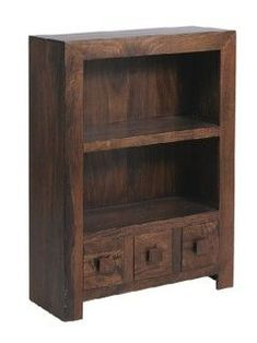 Dark Mango Wood Bookcase with Drawers - bookcase ideas, bookcase design, bookcase clipart Wood Bookcase, Furniture, Wood, Walnut Bookcase, Low Bookcase, Bookcases For Sale, Rustic Industrial Living Room, Wood Shelves, Bookcase Design