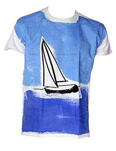 Berlato VELERO Talla L 74/56 cm Camiseta de Hombre 100% algodón, Man Cotton t-Shirt. Berlato