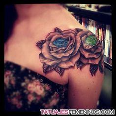 Resultado de imagen para tatuaje hombro mujer diamante