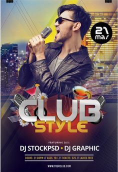 Club Styleis Free PSD Photoshop Flyer Template to Download. This Free PSD Flyeris fully editable and very easy to edit and customize. Flyer is unique and in high resolution 300dpi for Print Ready.  Club Styleis Freebie Flyer to Download – designed by Stockpsd.net .   #Club #download #flyer #free #PSD #style #template Free Psd Flyer Templates, Flyer Free, Club Style, Party Flyer, Flyers, Dj, Banner, Photoshop, Unique