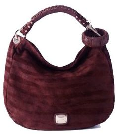 cbafd81e0008 Will buy Authentic Jimmy Choo Sky Day Medium Zebra Printed Suede Hobo  Handbag Bordeaux Red